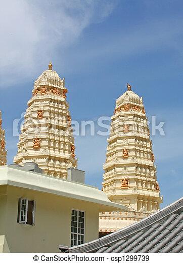 Hindu Temple Gleaming in the Sun - csp1299739