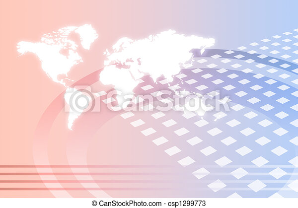 Corporate Worldwide Growth Abstract - csp1299773