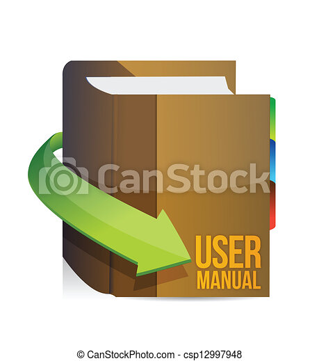 Eps vector of user guide user manual book illustration for Vector canape user manual