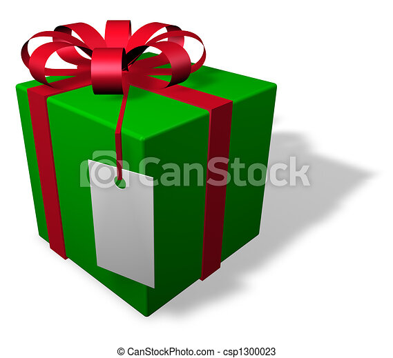 Drawings Of Single Christmas Package With Tag Single
