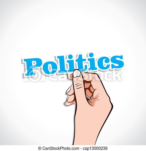 Politics Word In Hand  - csp13000239