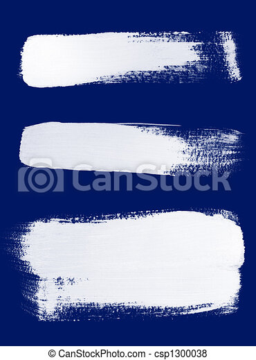 White brush strokes on blue background - csp1300038