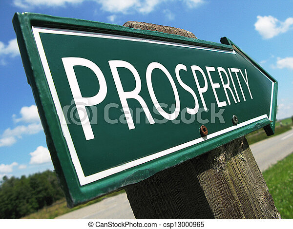 PROSPERITY road sign - csp13000965
