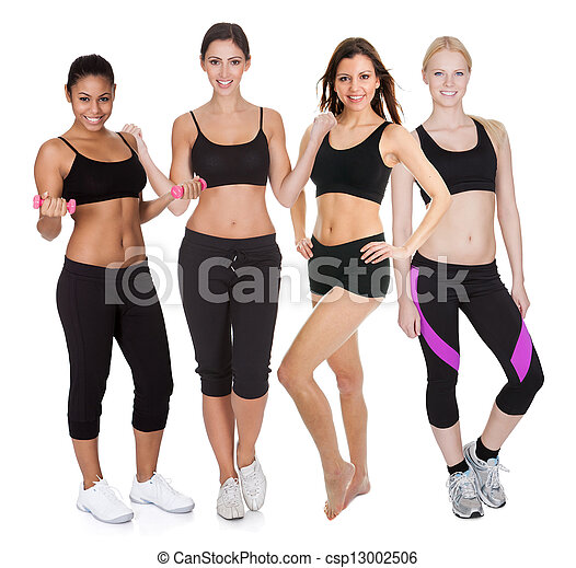 Group of fitness women - csp13002506