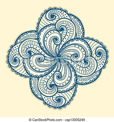 vecteur eps de floral beau motif jaune floral beau motif sur csp13005249. Black Bedroom Furniture Sets. Home Design Ideas