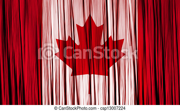 Canada Flag with a folded fabric texture - csp13007224