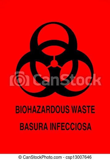 biohazard, 警告, 印 - csp13007646