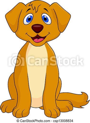 Vectors of Cut dog sitting csp13008834 - Search Clip Art ...