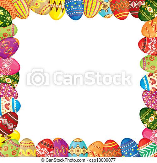 Easter eggs frame - csp13009077