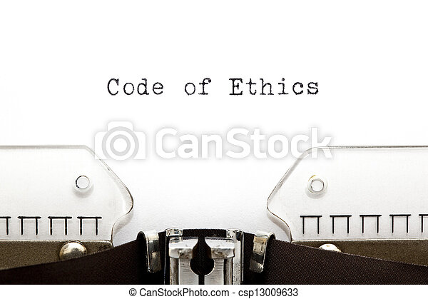 Code of Ethics Typewriter - csp13009633