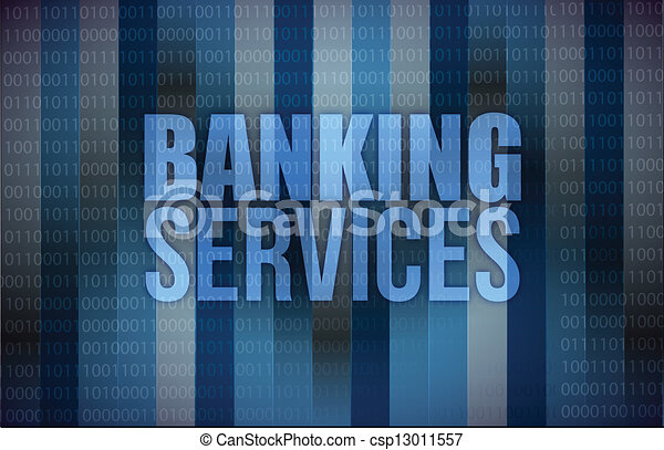 banking services on digital screen, business - csp13011557