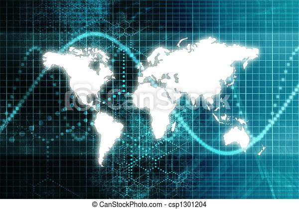 Blue Stock Market World Economy - csp1301204