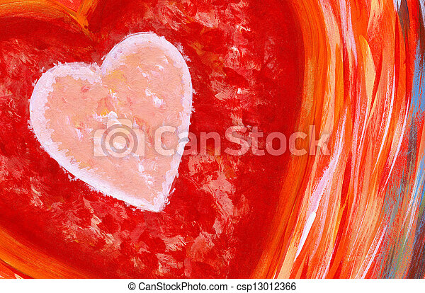 Heart Abstract Painting - csp13012366