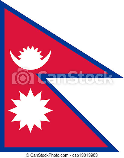 Flag of Nepal. - csp13013983