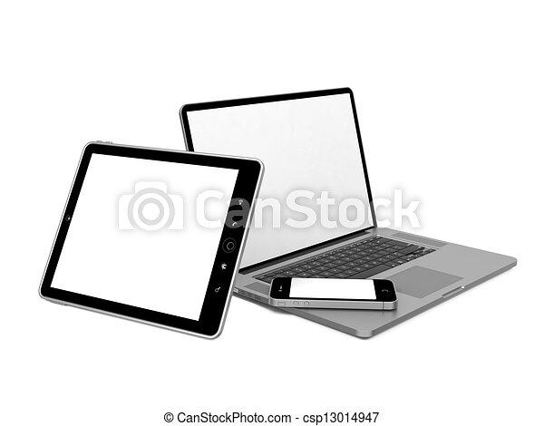 Set of Computer Equipment. - csp13014947