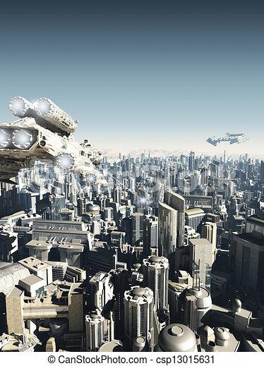 Future City Under Attack - csp13015631