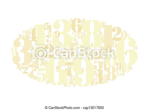 złoty, takty muzyczne, chmura, tło - csp13017650