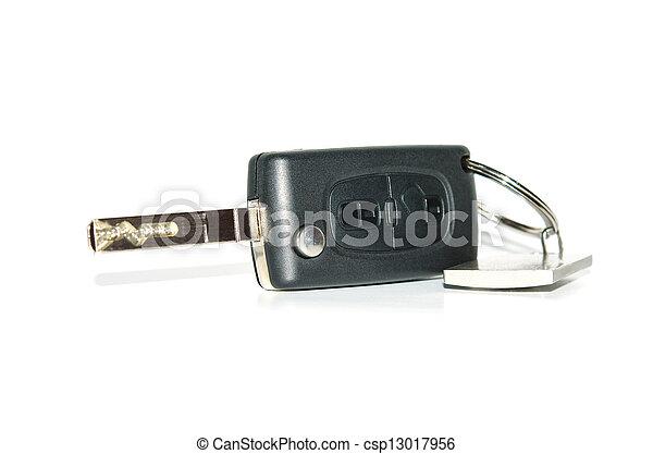 Automobile remote control key with keychain - csp13017956