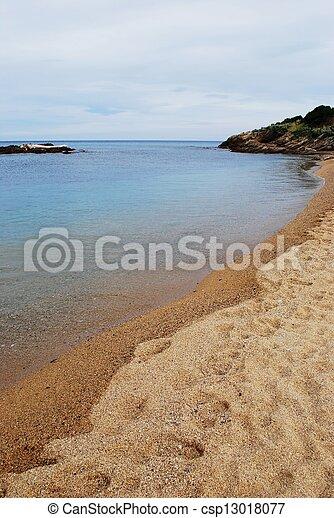 Empty beach - csp13018077