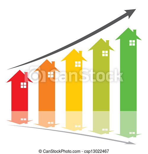 home price increase concept - csp13022467