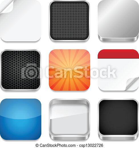 vektor illustration von app ikone schablonen vektor hintergruende app csp13022726. Black Bedroom Furniture Sets. Home Design Ideas