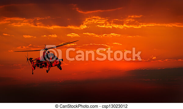 Military helicopter - csp13023012