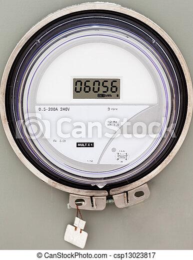 Smart grid residential digital power supply meter - csp13023817