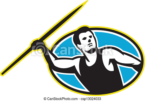 Javelin Throw Track and Field Athlete - csp13024033