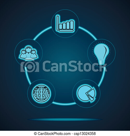 Clipart Vector of Group of business related icons stock vector ...