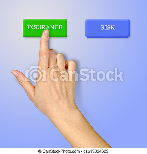 Buttons for insurance and risk - csp13024623