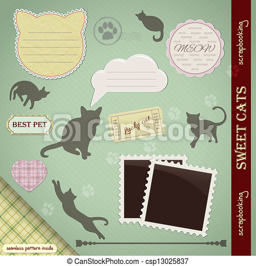 Scrapbooking Set: Sweet Cats - csp13025837