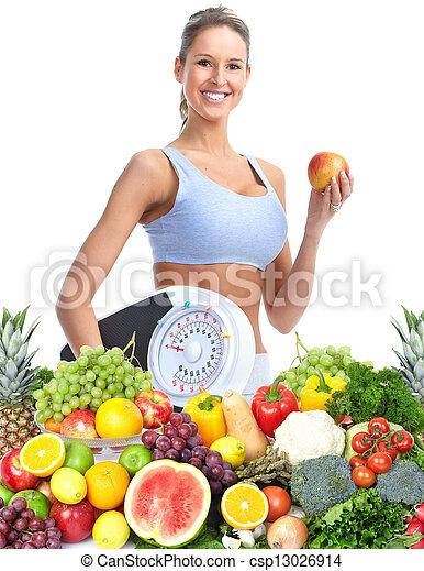 Healthy woman. - csp13026914
