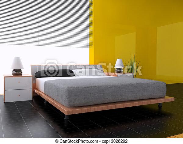 Archivio illustrazioni di camera letto in contemporaneo for Camera letto 3d