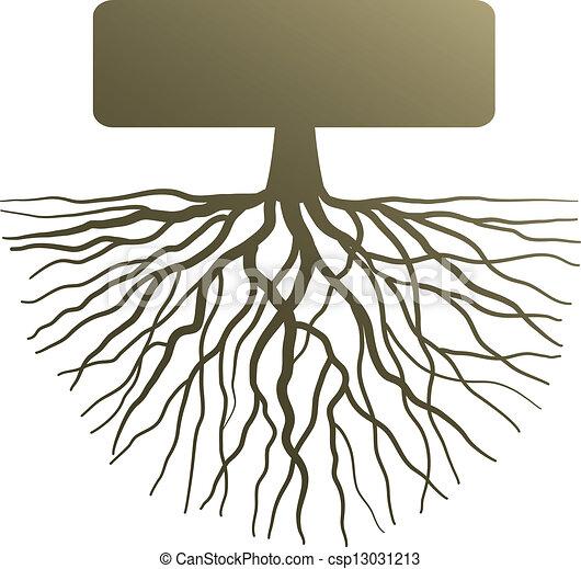Vecteur - concept, arbre, racine - banque d'illustrations