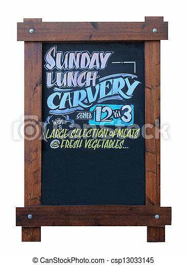 Sunday carvery pub sign - csp13033145