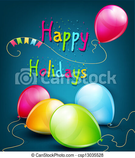 vector holiday background  - csp13035528