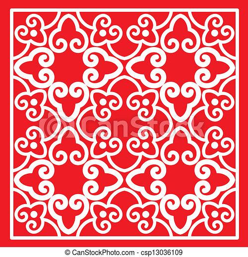 vektor clipart von muster orientalische klassisch rotes farbe klassisch csp13036109. Black Bedroom Furniture Sets. Home Design Ideas