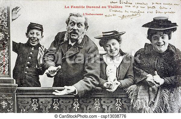 Image de vieux carte postale de les famille durand les csp130387 - Famille durand arc international ...