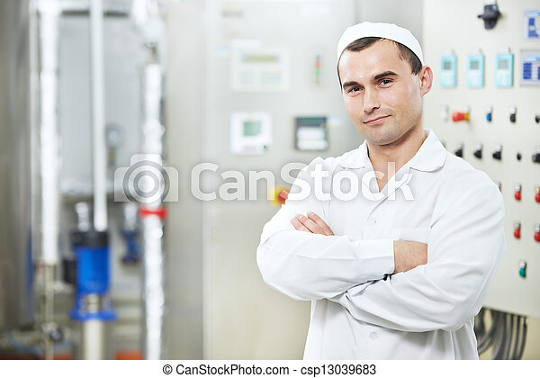 pharmaceutical factory worker - csp13039683