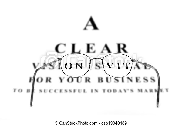 Eye Chart for Business Success and  - csp13040489