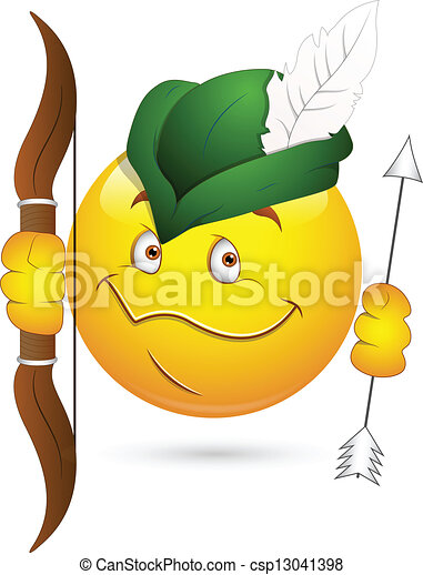 EPS Vectors of Robin Hood Smiley Face - Creative Abstract ...