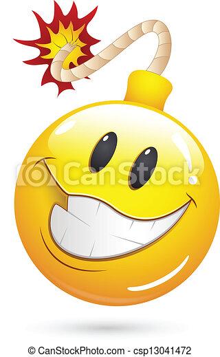 Exploding Bomb Emoticon Offer blast bomb smiley face -
