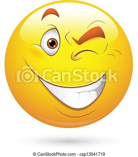 vector clip art of blinking eye smiley face vector blinking eye clip art Blinking Eyes Animation