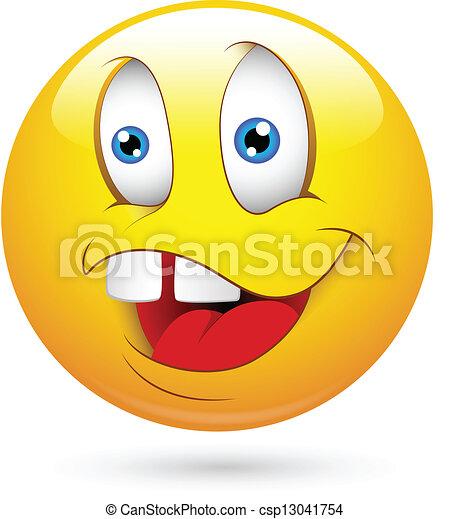 Vector of Dumb Smiley Face Vector - Creative Abstract Conceptual Art ...
