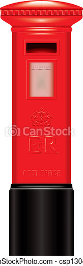 Vector Illustration of Red Mail Box - London - icon - Very ...