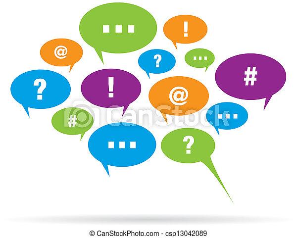 Communication Talk Bubble Balloons - csp13042089