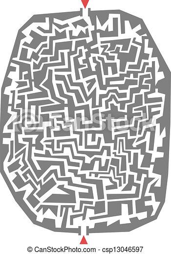Maze art - csp13046597