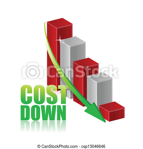 Cost Down Business Chart Graph Vector EPS - Instant ...