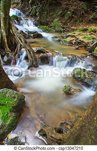 waterfall in the Forest National park thailand