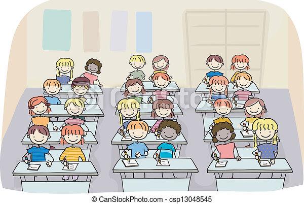 Imagenes de dibujos de ni os en clase imagui - Ninos en clase dibujo ...